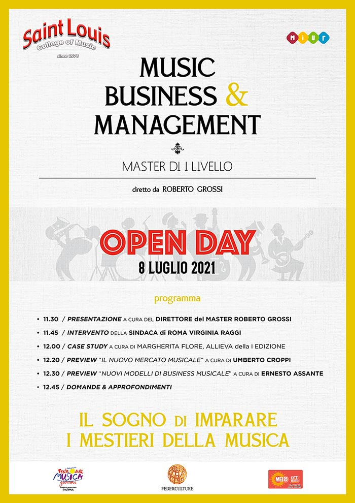 Open Day - Master in Music Business & Management